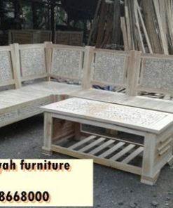 Kursi Sudut Cirebon Untuk Ruang Tamu Kayu Jati Solid