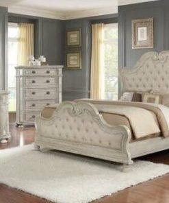 set kamar pengantin duco putih modern