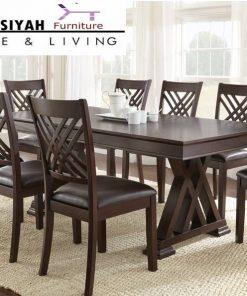 jual meja makan 8 kursi di medan