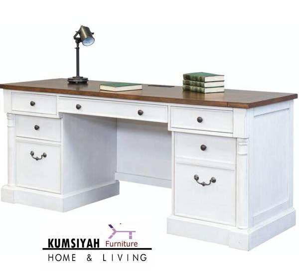 Meja Kerja Minimalis Putih Terbaru Di Jepara