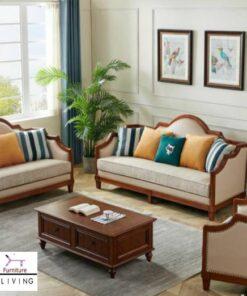 Jual Kursi Tamu Solo Minimalis Jati Sofa Modern