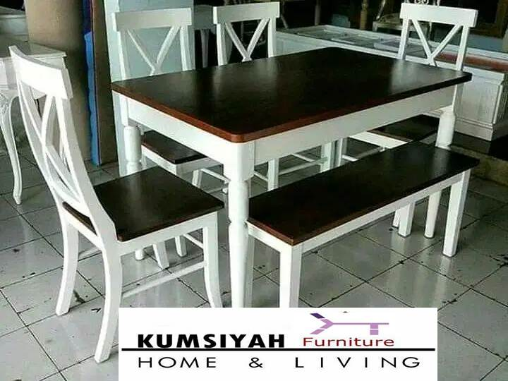 meja makan jati minimalis duco