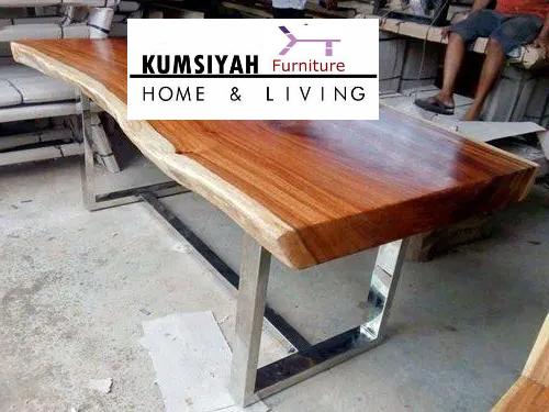 meja trembesi kayu solid