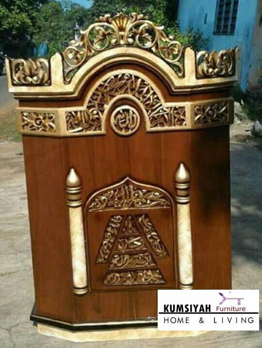 mimbar masjid ukiran mewah