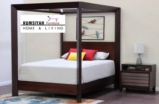 Harga Tempat Tidur Kelambu Jati Minimalis Breeze Jepara