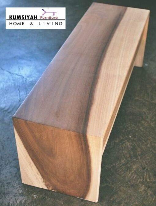 Kursi Bangku Balok Kayu Solid