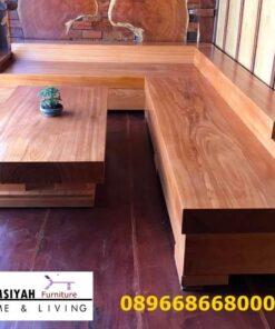 Set Kursi Kayu Jati Tebal Model Solid Harga Murah