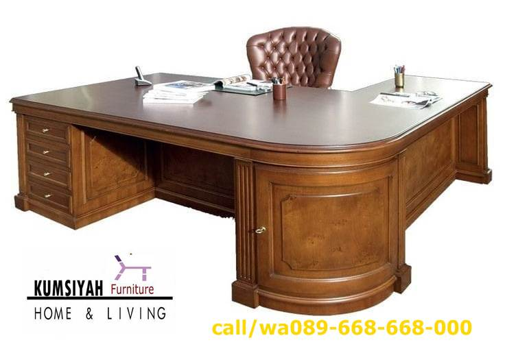 meja-kantor-direktur-mewah-kayu-jati-terbaik-klasik-ukiran