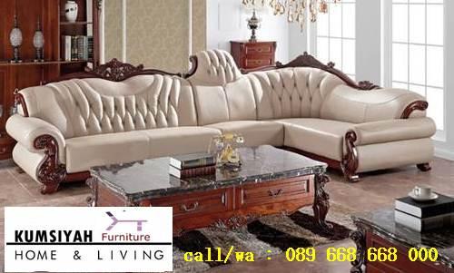 Jual Sofa L Mewah Luxury Klasik Termurah